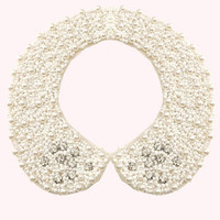 Dahlia Pearl Collar with Diamante Detail