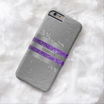 Personalized Liquid Metal Look Purple Trim Case