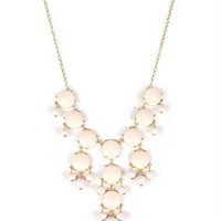 Pre-Order: Ivory/Gold Bubble Necklace