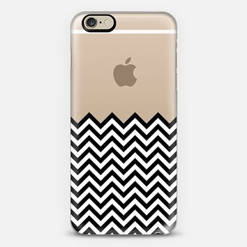 Dipped in Black and White Chevron iPhone 6 case by Organic Saturation | Casetify