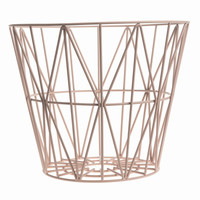 Wire Basket Small - Rose