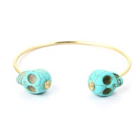 Skull End Cuff Bracelet  - New Arrivals - Retro, Indie and Unique Fashion