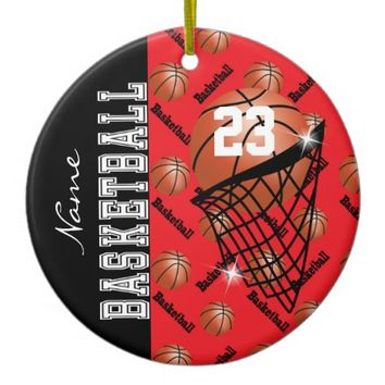 Personalize Red Basketball