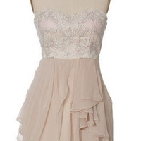 Champagne Chiffon Tier Dress