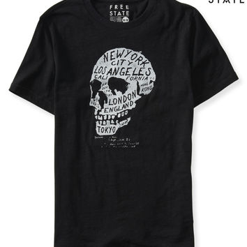 Aeropostale  Free State Skull City Graphic T - Black