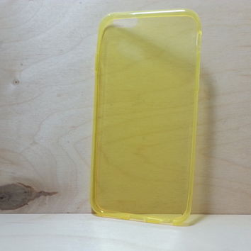 0.3 mm Super Slim TPU Soft Silicone Case for iphone 6 (4.7 inches) - Transparent Yellow