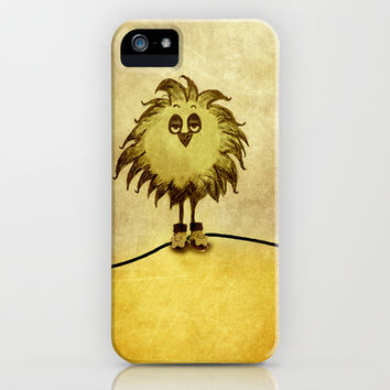 Bored Little Bird iPhone & iPod Case by SensualPatterns