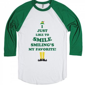 Smiling's My Favorite!-Unisex White/Red T-Shirt