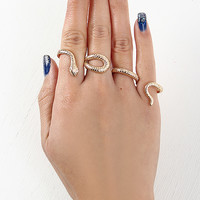 Winding Snake Knuckle Ring