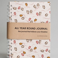All Year Round Timeless Journal (Self filled dates, months &amp; years) - Scattered Cute Owls