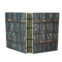 Vintage Printing Press Letters Handmade Journal