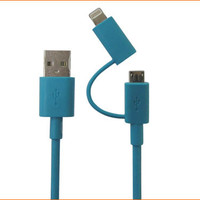 Apple certified 2 in 1 Cable from iphone 5/6/6+ & Micro USB Devices