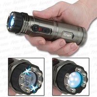 Stun Gun Flashlight Impact Weapon Combo - Rechargeable