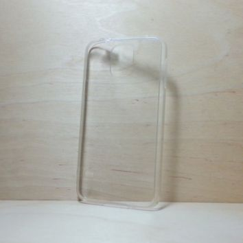 Silicone Bumper and Clear Hard Acrylic Back Case for Samsung Galaxy S5 - White