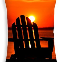 "Adirondack Days End Throw Pillow 20"" x 14"""