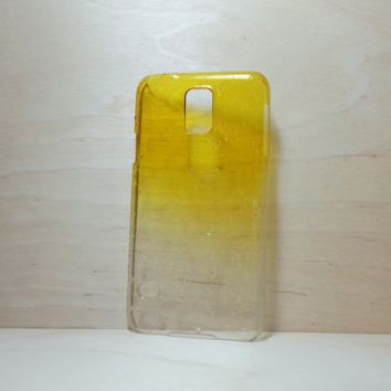 3D Water Droplets Hard Plastic Case for Samsung Galaxy S5 - Yellow
