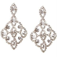 Glimmering Chandelier Crystal Earrings