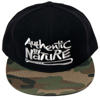 Authentic By Nature Black/White/Camo 2-Tone Snapback