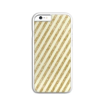 Gold Glitter Stripes Case for iPhone