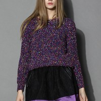 Cheering Dots Knitted Sweater