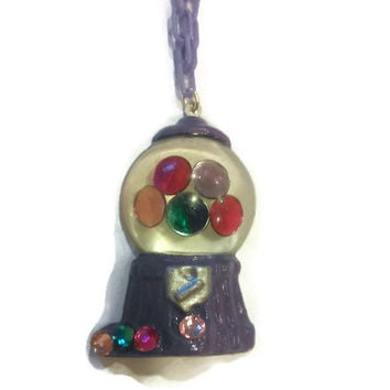 Gumball Machine Necklace Purple Jewelry, Candy Necklace, Tween Necklace, Teen Accessories, Girl Jewellery, Girls Accessory,
