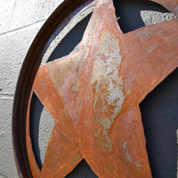 Abstract Star Wall Art made from Salvaged Steel