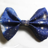 Galaxy Printed Hair Bow (S,M, or L) (version 1)