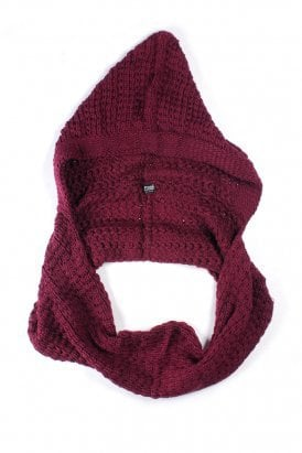 de*nada - hooded cowl scarf (burgandy) - De*Nada | 80's Purple