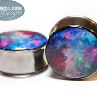 0g-9/16in Galaxy Plugs Style 2