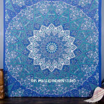 Large Star Mandala Tapestry Wall Hanging, Hippie Indian Wall Tapestries, Bohemian Boho Ethnic Dorm Décor Art Bedspread Tapestry Beach Throw