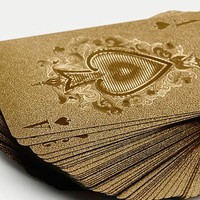 Neo-Utility — Gold Playing Cards — THE LINE