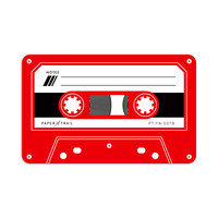 Cassette Tape - Flat Notes (Red)