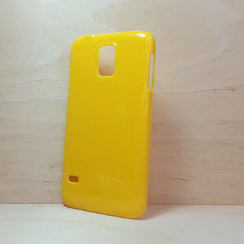 Hard Plastic Case for Samsung Galaxy S5 - Yellow