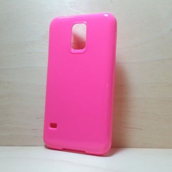Candy Color TPU Soft Silicone case for Samsung Galaxy S5 - Rose Pink