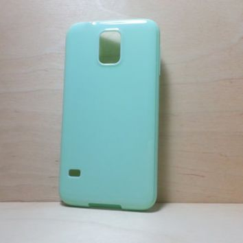 Candy Color TPU Soft Silicone case for Samsung Galaxy S5 - Mint Green