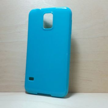 Candy Color TPU Soft Silicone case for Samsung Galaxy S5 - Turquoise
