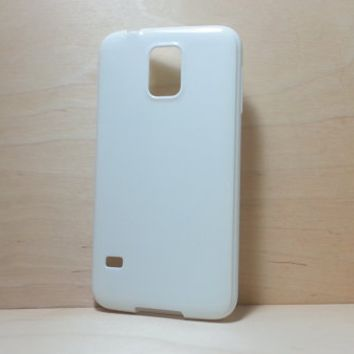 Candy Color TPU Soft Silicone case for Samsung Galaxy S5 - White
