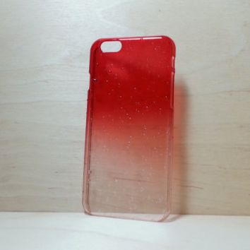 3D Water Droplets Hard Plastic Case for iPhone 6 (4.7 inches) - Red