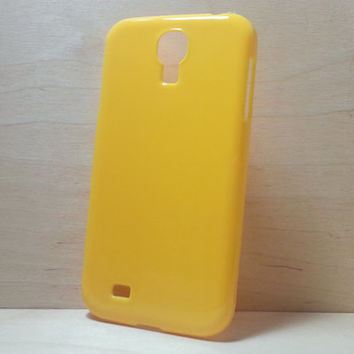 Hard Plastic Case for Samsung Galaxy S4 - Yellow