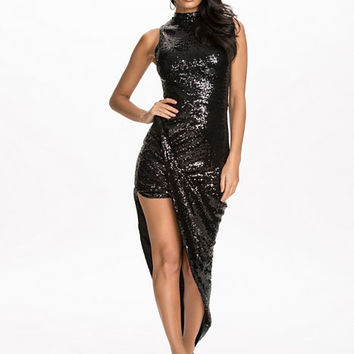 Sequins Turn Up Side Ruched Dress, Club L