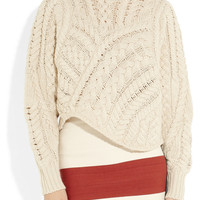 Isabel Marant Versus cable-knit wool sweater – 55% at THE OUTNET.COM