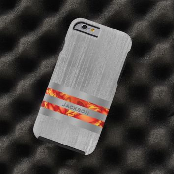 Personalized Metal Look Lava Glow Case