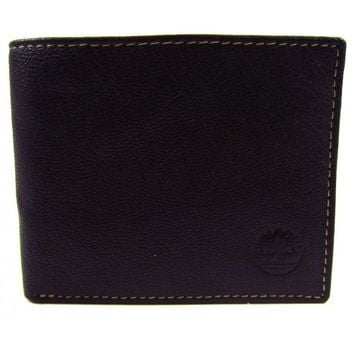 Timberland Brown Cow Crunch Slimfold Leather Wallet