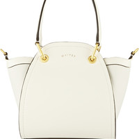 Maiyet - Peyton mini leather and canvas shoulder bag