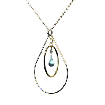 13 colors of Sun-Melted Glass Droplet Pear Shaped Necklaces // Sundrop Jewelry // Gift under 50