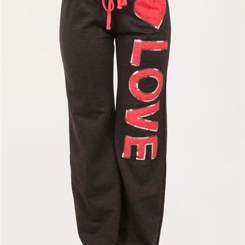 Crochet Love Sweatpants