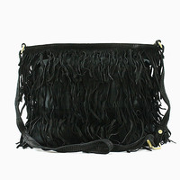 Jodie Leather Fringe Bag Small