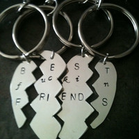 Mature content ... Best fuckin friends forever silver 4 parts sterling chain pendant 65.00