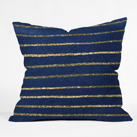 """Social Proper Nautical Sparkle Throw Pillow 18"""" x 18"""" Sample Sale - Luxe Indoor / 18"""" x 18"""" / Pillow Cover With Insert"""