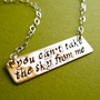 Firefly Necklace- You can't take the sky from me -Brass and Sterling Silver Necklace